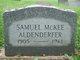 Samuel McKee Aldenderfer