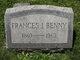 Profile photo:  Frances I. Benny