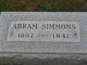 Profile photo:  Abram Simmons