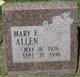 Profile photo:  Mary E. Allen