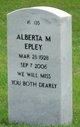 Profile photo:  Alberta M. Epley
