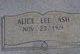 Alice Lee Ash