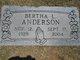 Profile photo:  Bertha L Anderson