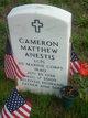 Profile photo: LCpl Cameron Matthew Anestis