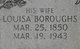 Profile photo:  Louisa <I>Burroughs</I> Auman