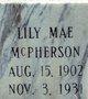 Lily Mae <I>Dean</I> McPherson