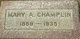 "Mary A. ""Mollie"" <I>Mettling</I> Champlin"