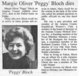 "Mrs Margie Latecia ""Peggy"" <I>Oliver</I> Bloch"