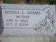 Donna L. <I>Cloud</I> Adams