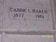 Profile photo:  Carrie Laverne <I>McLaren</I> Baker