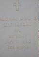 "Profile photo:  Alexandro S ""Alex"" Gonzales"