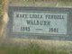 Mary Leola <I>Pendell</I> Walburn