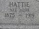 Hattie <I>Hehr</I> Kilpatrick