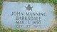 Profile photo:  John Manning Barksdale
