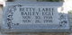 Betty Laree <I>Bailey</I> Egli