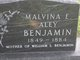 Malvina E. <I>Aley</I> Benjamin