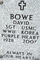 Profile photo:  David Bowe