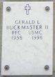 PVT Gerald L Buckmaster, II