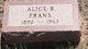 Profile photo:  Alice B Frans