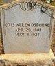 Profile photo:  Otis Allen Osborne