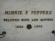 Profile photo:  Minnie F. <I>Rosendahl</I> Peppers