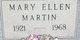 Mary Ellen <I>Ossman</I> Martin