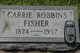 "Caroline ""Carrie"" <I>Robbins</I> Fisher"