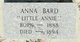 "Anna ""Little Annie"" Bard"
