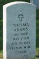 Profile photo:  Thelma Adams
