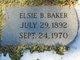 Profile photo:  Elsie Blanche <I>Chester</I> Baker