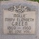 "Mary Elizabeth ""Mollie"" <I>Bowers</I> Green"