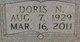 Doris N. <I>Striplin</I> Alford