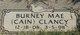 Burney Mae <I>Cain</I> Clancy