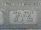 Opal M <I>Clubb</I> Wills De Celis