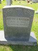 """Harriet Ann """"Hattie"""" <I>Jenkins</I> Watson"""