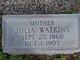 Julia C. <I>Watkins</I> Wakefield