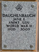 Jane Eleanor <I>Baker</I> Daughenbaugh