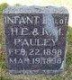 Infant Daughter Pauley