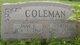 Jane Elizabeth <I>Hinman</I> Coleman
