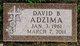 Profile photo:  David B. Adzima