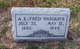 "Profile photo:  Alfred Embra ""Fred"" Hargrave"