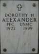 Profile photo:  Dorothy Helen Alexander