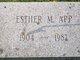 Profile photo:  Esther M <I>Barger</I> App