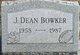 J Dean Bowker