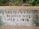 Henrietta R. Carter