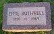 Effie Mable Bothwell