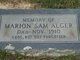 "Marion Samuel ""Sammie"" Alger"