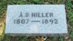 Profile photo:  A. B. Hiller