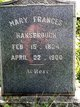 Mary Frances <I>Mansfield</I> Hansbrough