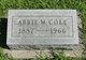 Profile photo:  Abbie Muriel <I>Bartlett</I> Cole